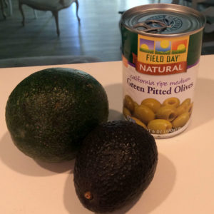 cooking essentials - olives and avocados