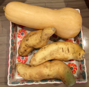 cooking essentials - sweet potatoes and squash